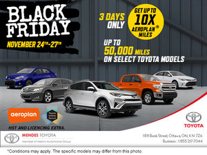 Black Friday at Mendes Toyota!