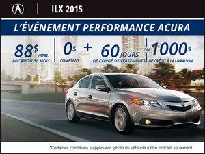 Acura ILX 2015 en location à la semaine à partir de 88$