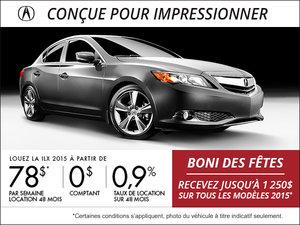 Acura ILX 2015 en location à la semaine à partir de 78$