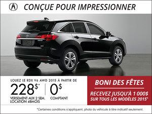 Acura RDX 2015 AWD en location à partir de 228$ aux 2 semaines