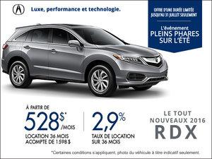 Acura RDX  2016  en location à partir de 528$/mois