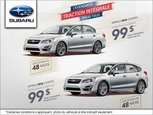 Louez la Subaru Impreza 4 ou 5 portes 2016