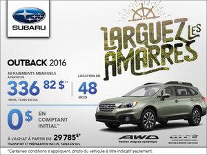 Louez le Subaru Outback 2016 à 336,82$ par mois