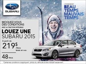 C'est l'événement beau temps mauvais temps avec Subaru!