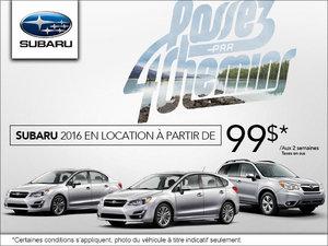 C'est l'événement de vente mensuel chez Subaru!