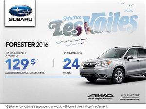 La Subaru Forester 2016 en location à  129$ aux deux semaines