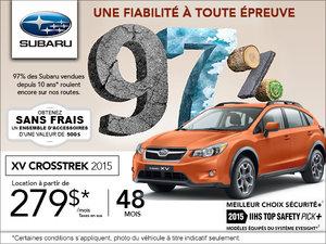 Louez le Subaru XV Crosstrek 2015 à partir de 279$ par mois