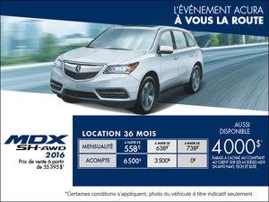 Acura MDX 2016 en location!