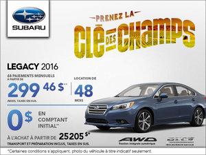 Louez le Subaru Legacy 2016 à 299,46$ par mois