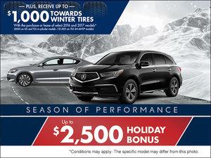 It's Acura's Season of Performance Sale!