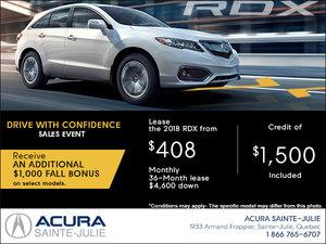 Lease the 2018 Acura RDX