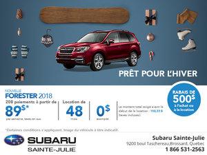 La Subaru Forester 2018 en rabais!