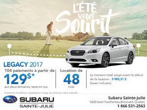 Louez le Subaru Legacy 2017 aujourd'hui!