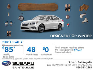 Lease the 2018 Subaru Legacy Today!