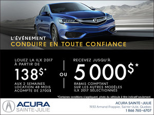 Acura ILX 2017 en location!