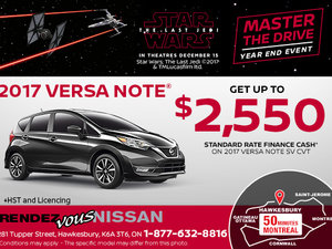 Drive Home the 2017 Nissan Versa Note Today!