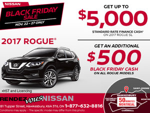 Black Friday - Get the 2017 Nissan Rogue!
