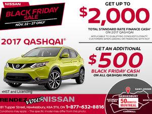 Black Friday - Get the 2017 Nissan Qashqai Today!