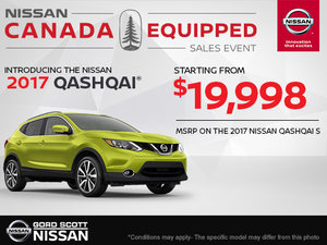 Get the Qashqai 2017 Today!