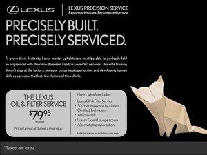 Lexus Oil & Filter Service!