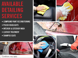 Take advantage of our detailing services!