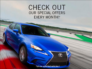 Check out our special offers every month!