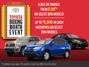It's the Toyota Boxing Month Sales Event!