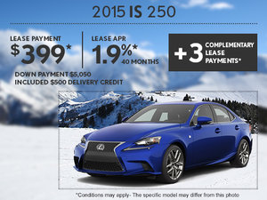 Find the new 2015 Lexus IS at Spinelli today!
