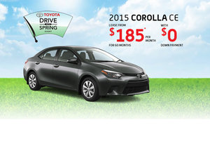 Drive The all-new 2015 Toyota Corolla starting from $185 per month