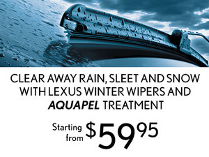 Aquapel Treatment with Winter Wipers