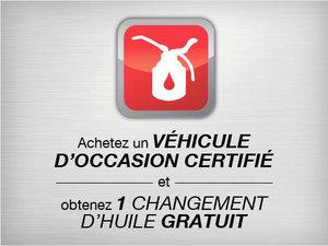 1 changement d'huile à l'achat d'un véhicule d'occasion certifié