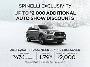 NEW INFINITI QX60 DEALS AT SPINELLI IN MONTREAL
