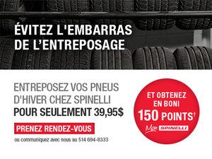 Confiez l'entreposage de vos pneus aux bons soins de Spinelli