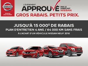 L'Événement approuvé du fabricant Nissan