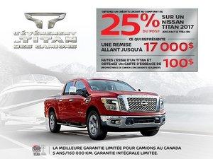 Nissan Titan neuf en promotion à Montréal