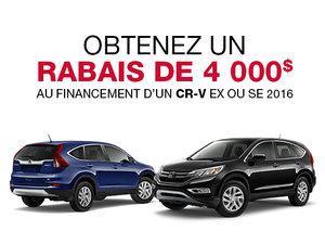 Liquidation des Honda CR-V 2016