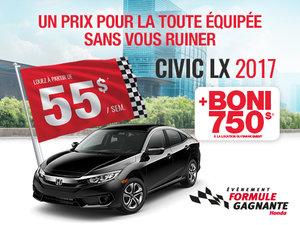 Honda Civic LX en promotion à Montréal