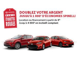 La Vente Étiquettes Rouge Toyota