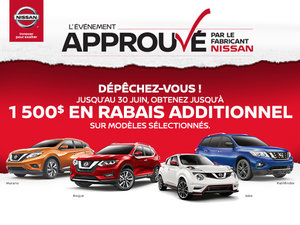 L'Événement approuvé par le fabricant Nissan - 16 au 30 juin