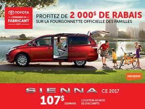Toyota Sienna neuf en promotion à Montréal