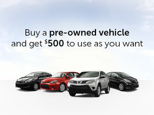 Toyota Pre-Owned Vehicle Promotion