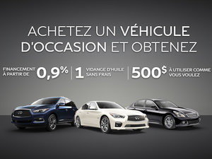 Promotion véhicules d'occasion Infiniti