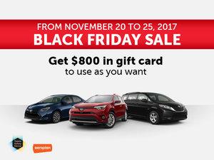 Spinelli Toyota's Black Friday Sale