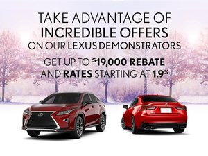 The Lexus Demo Sales Event