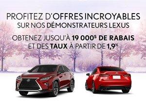 Grande vente de démonstrateurs Lexus