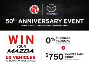 Mazda's 50th Anniversary Event
