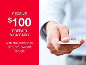 Get a $100 Pre-Paid Visa Card