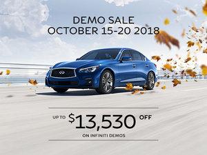 October Demo Sale