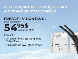 Forfait Vision PLUS pour seulement 54,95$