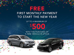 Free First Monthly Payment to Start the New Year